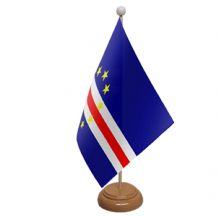 CAPE VERDE - TABLE FLAG WITH WOODEN BASE